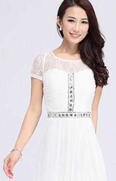 真丝白色连衣裙加工