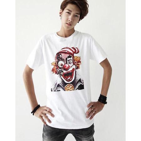型男小丑T恤服装加工