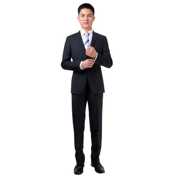 型男职业西装服装加工