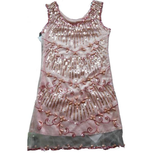 W14004订珠连衣裙服装加工