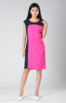 SY003黑红背心裙服装加工