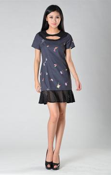 SY006数码印花连衣裙服装加工