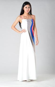 SY017四色吊带连衣裙服装加工