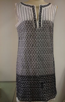 T004-2薄棉布车花连衣裙服装加工