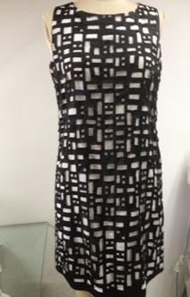 T005-1丝棉撞网格连衣裙服装加工