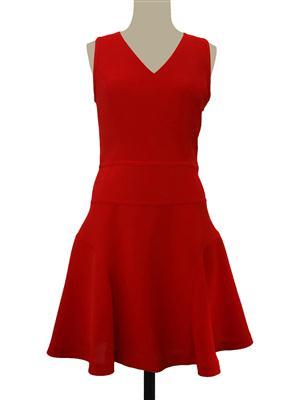 SY-17001红色无袖连衣裙